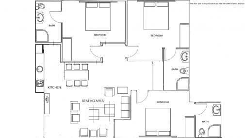Trio Apartment Floor Plan